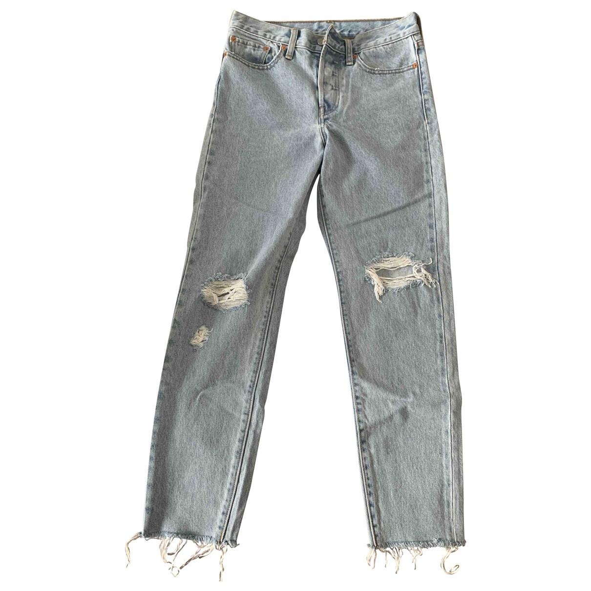 Levi's \N Blue Cotton Jeans for Women 27 US