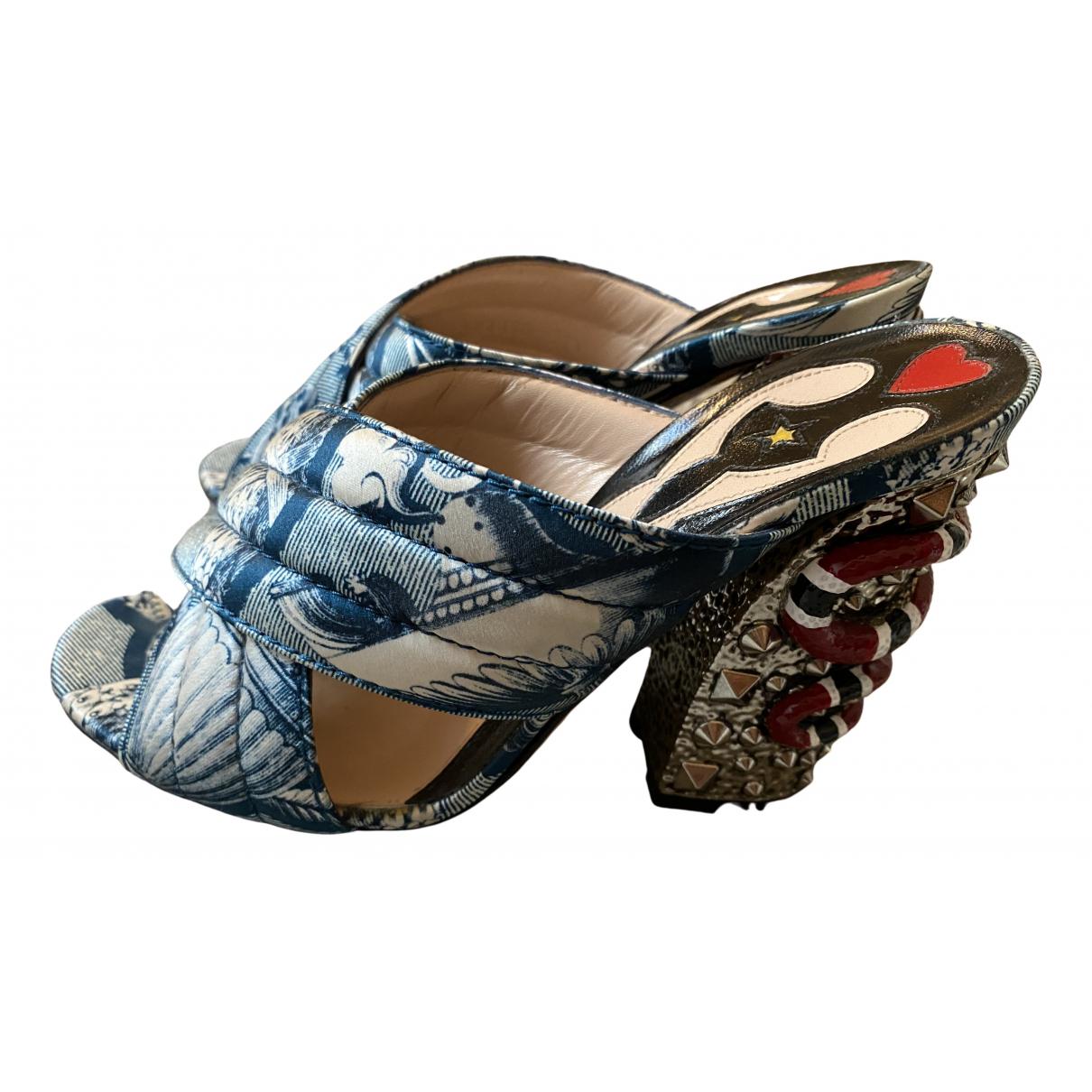 Gucci - Sandales   pour femme en cuir - multicolore