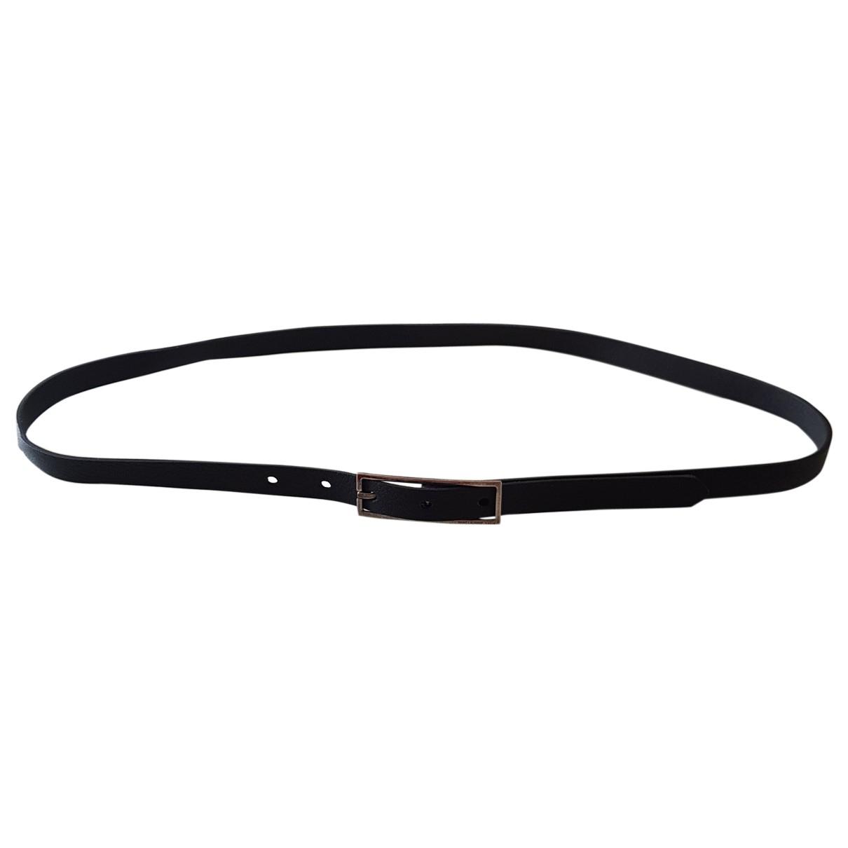 Saint Laurent \N Black Leather belt for Men 100 cm