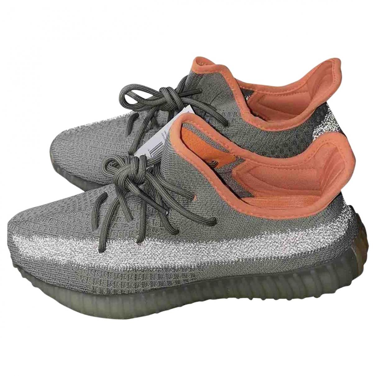 Yeezy X Adidas - Baskets Boost 350 V2 pour femme en suede - gris