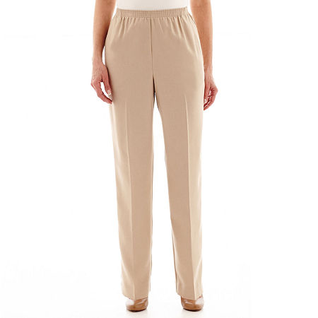 Alfred Dunner Pull-On Pants, 16 Petite , Brown