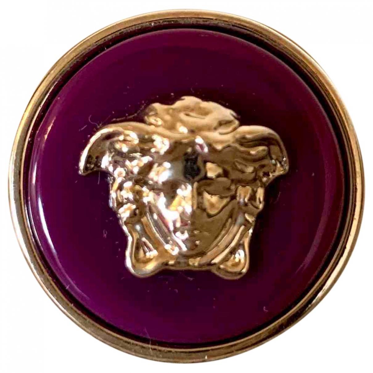 Versace Medusa Ring in  Lila Stahl