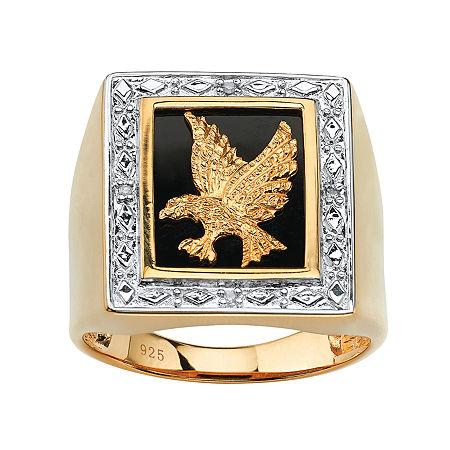 Mens Diamond Accent Genuine White Diamond 14K Gold Over Silver Fashion Ring, 13 , No Color Family