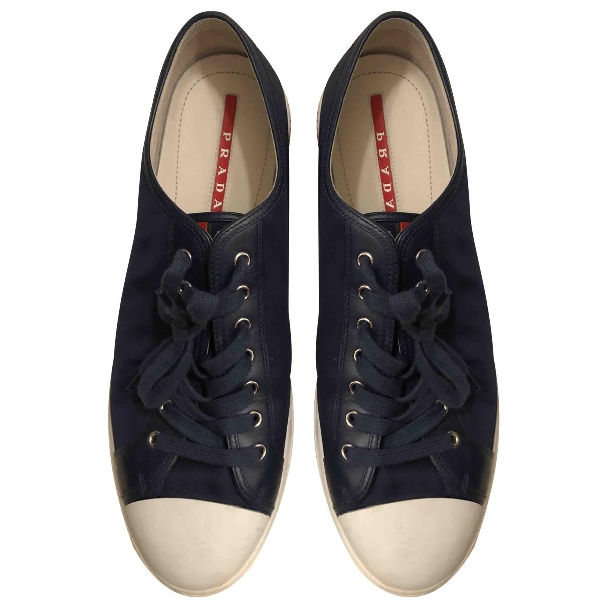 Prada \N Navy Cloth Trainers for Men 11 UK