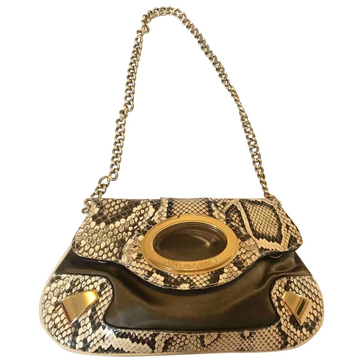 Dolce & Gabbana \N Clutch in  Braun Python