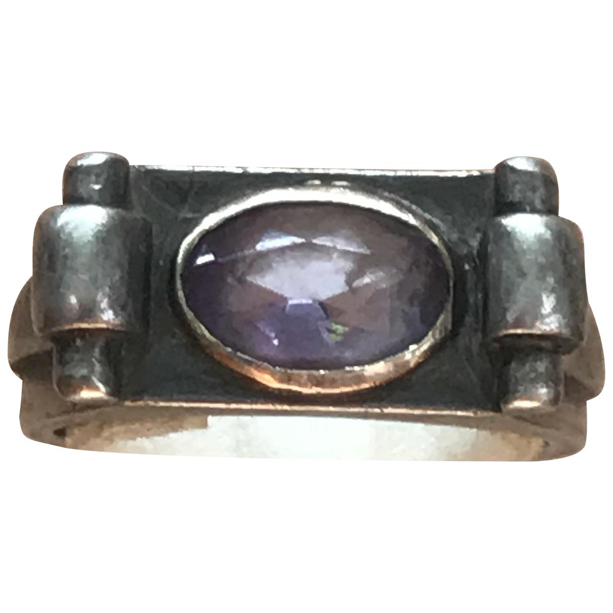 - Bague Art Deco pour femme en argent - violet