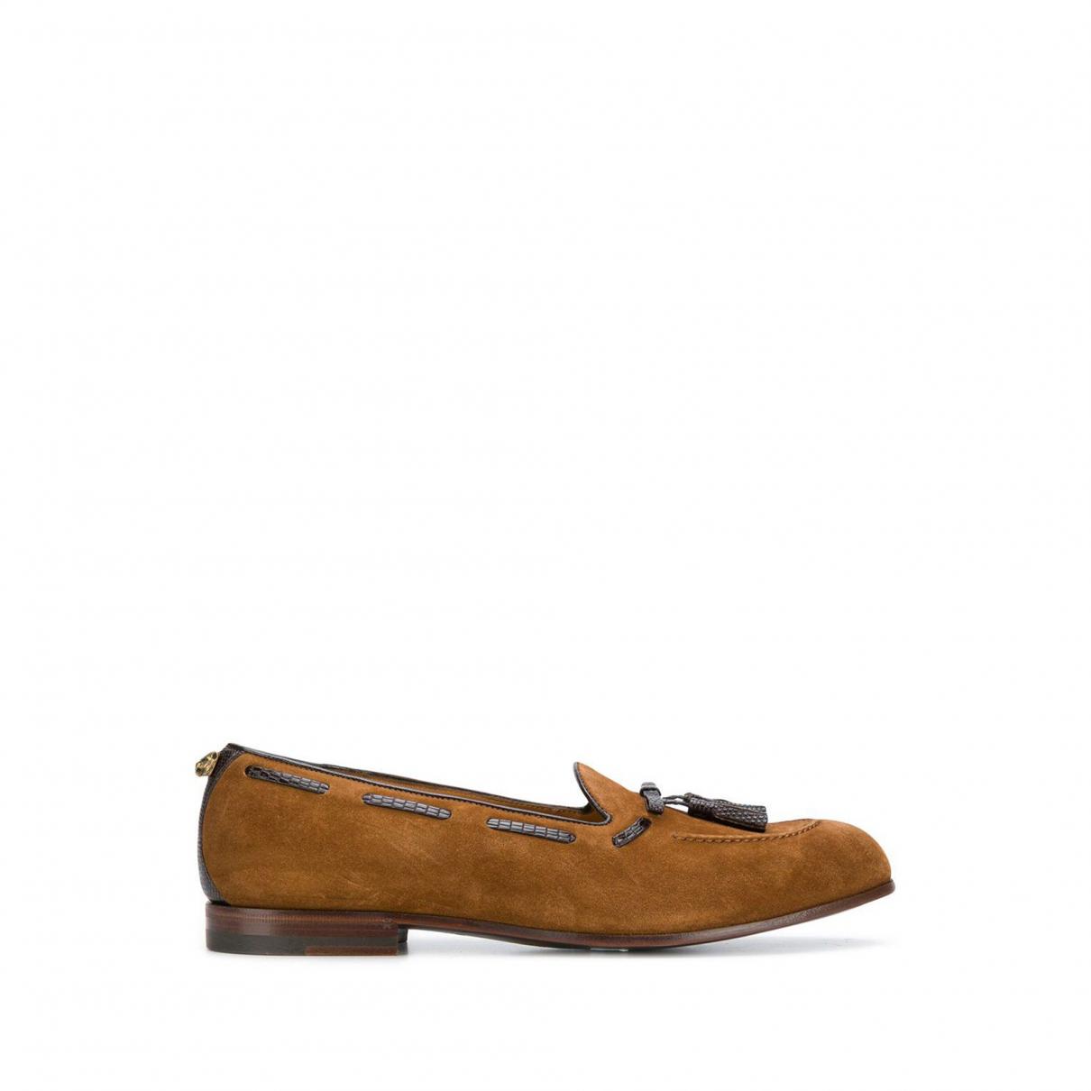 Gucci - Mocassins   pour femme en cuir - marron