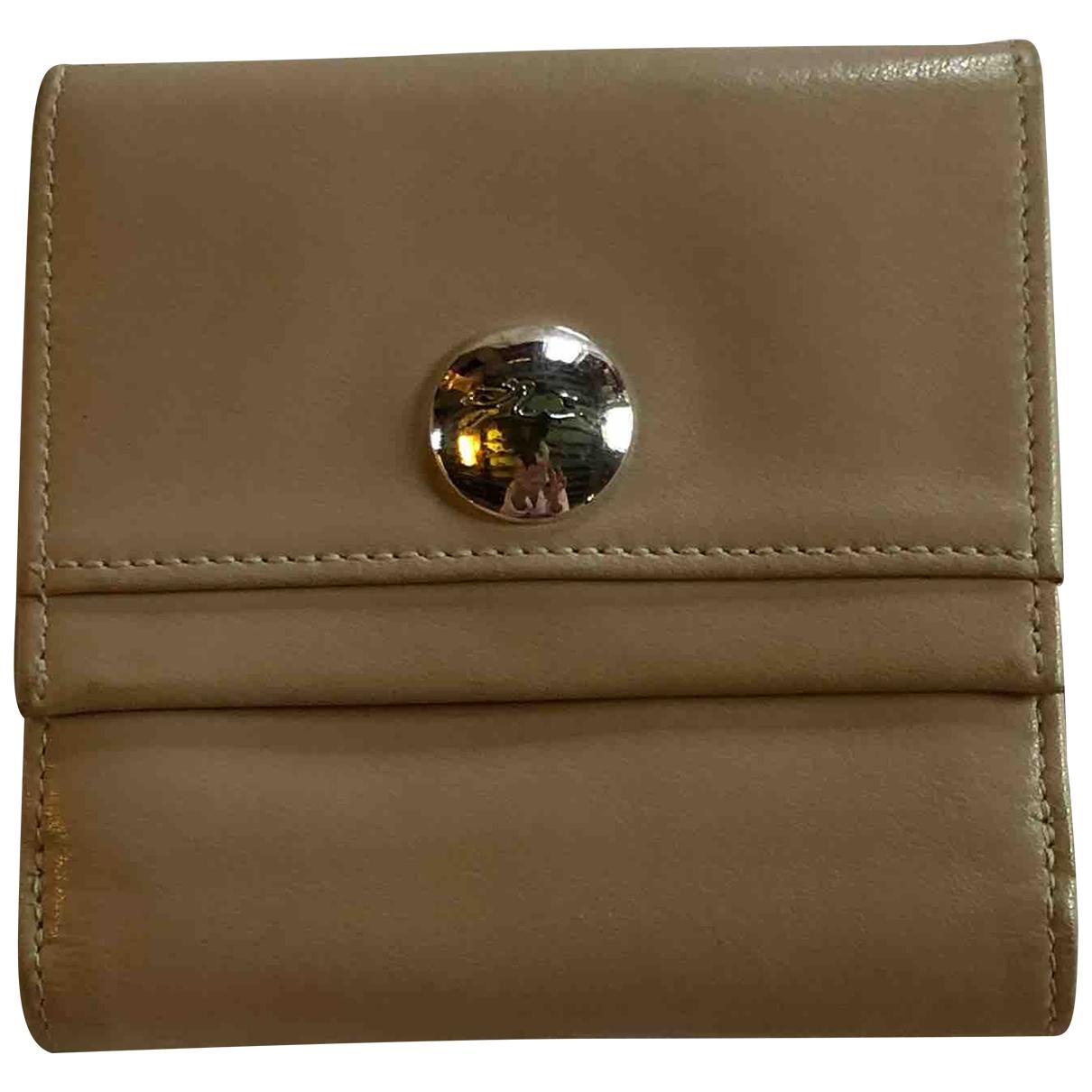 Longchamp \N Kleinlederwaren in  Beige Leder