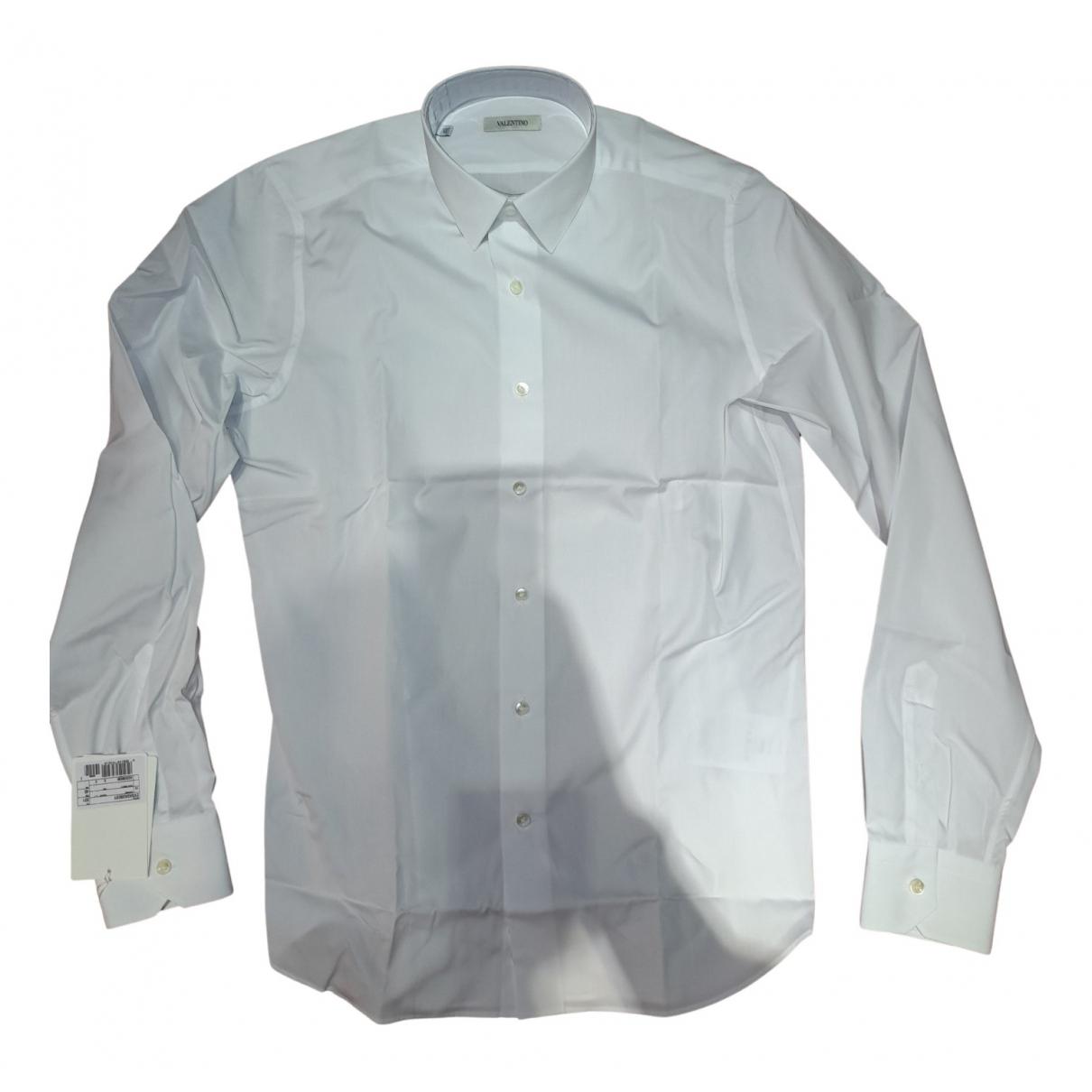 Valentino Garavani N White Cotton Shirts for Men M International