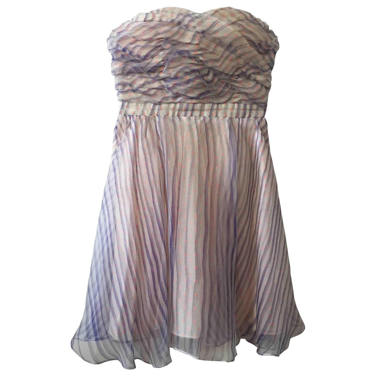 Manoush - Robe   pour femme en soie - ecru