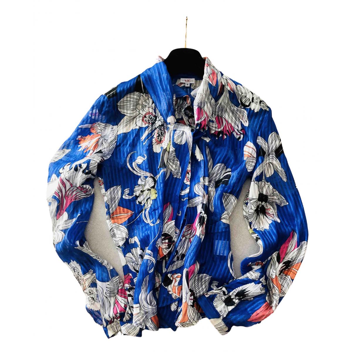Versace Jean - Top   pour femme en soie - multicolore