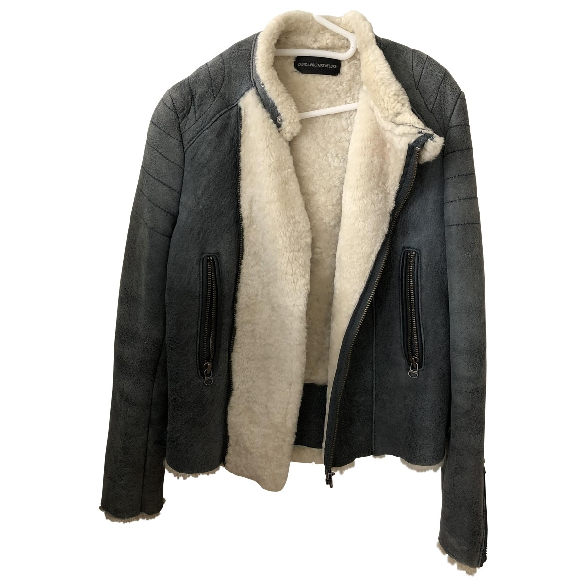 Zadig & Voltaire \N Blue Shearling coat for Women 38 FR