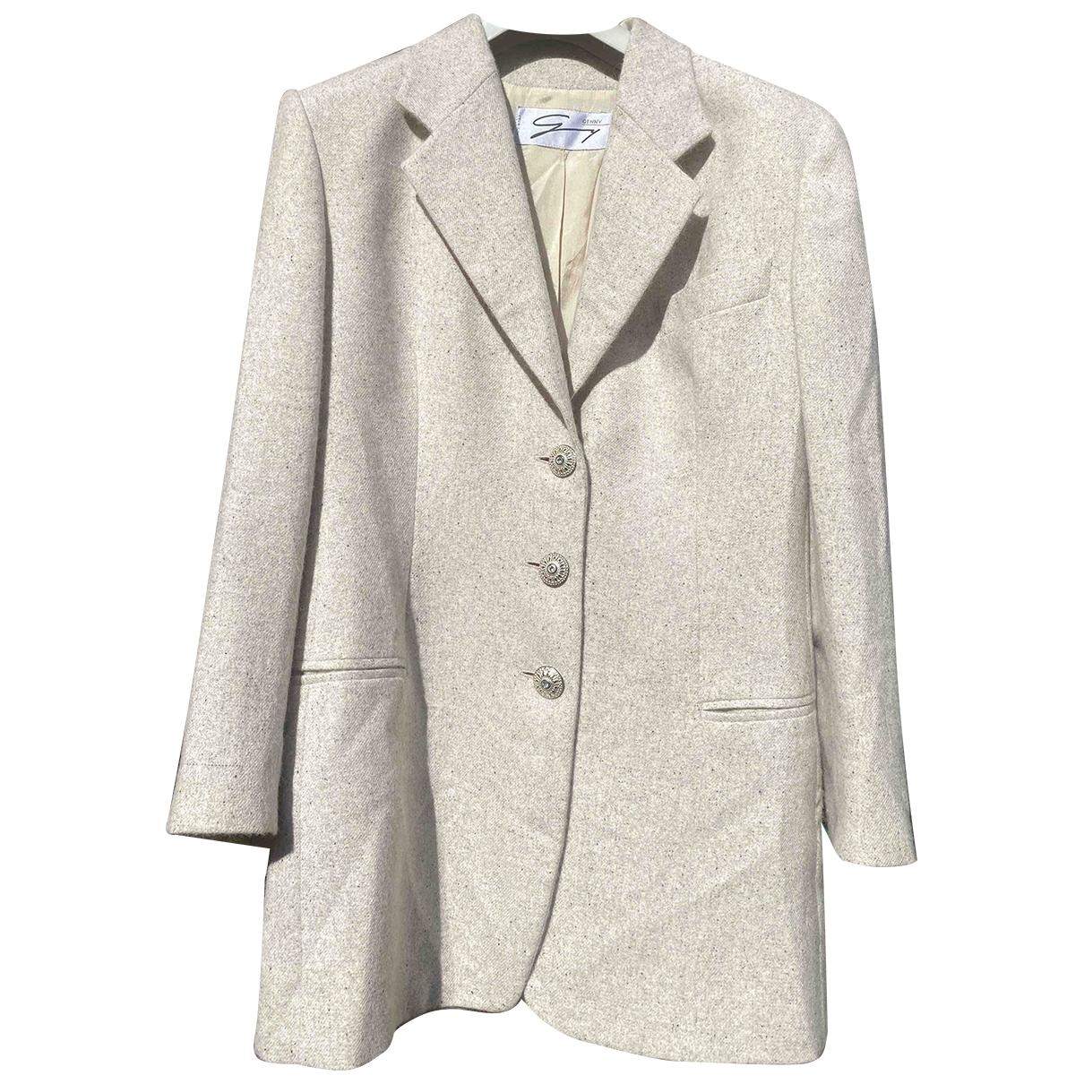 Genny \N Jacke in  Grau Wolle