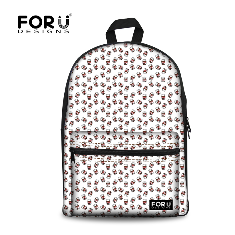 Kinds of Bottoms Pattern Waterproof Breathable White 3D Printed Backpack
