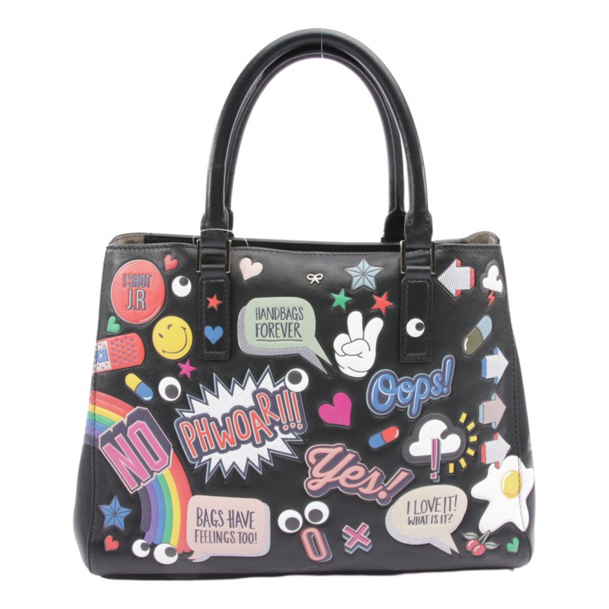 Anya Hindmarch \N Black Leather handbag for Women \N