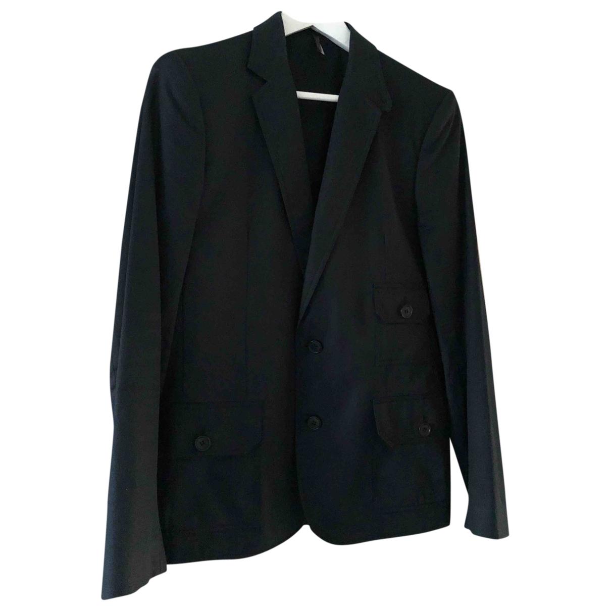 Dior Homme \N Jacke in  Marine Baumwolle