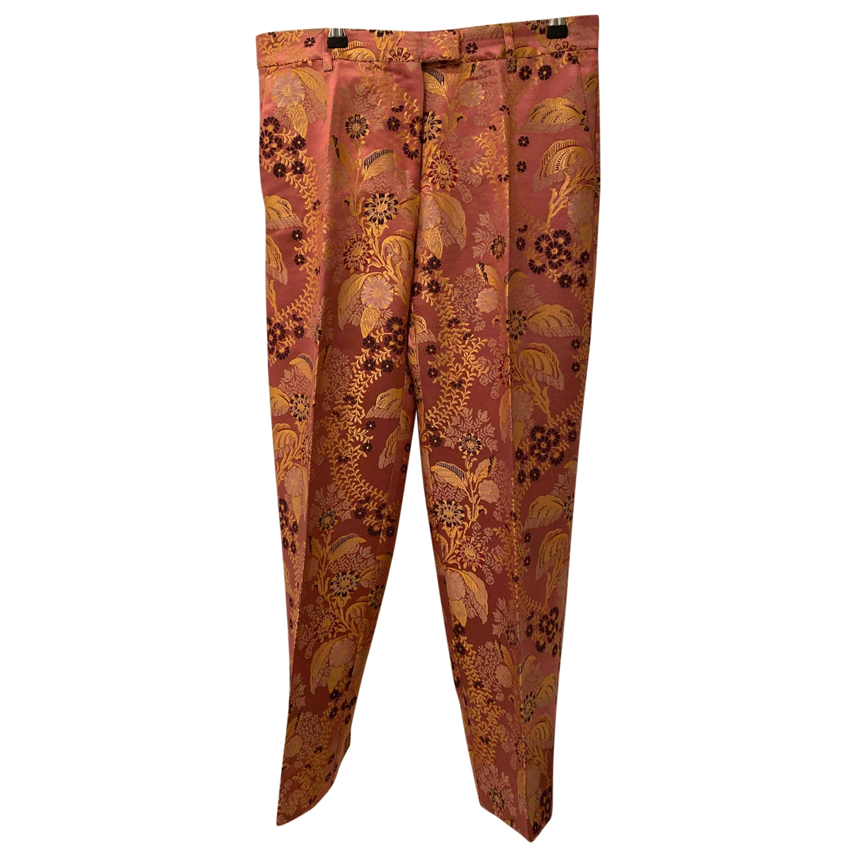 Etro \N Pink Trousers for Women 42 IT