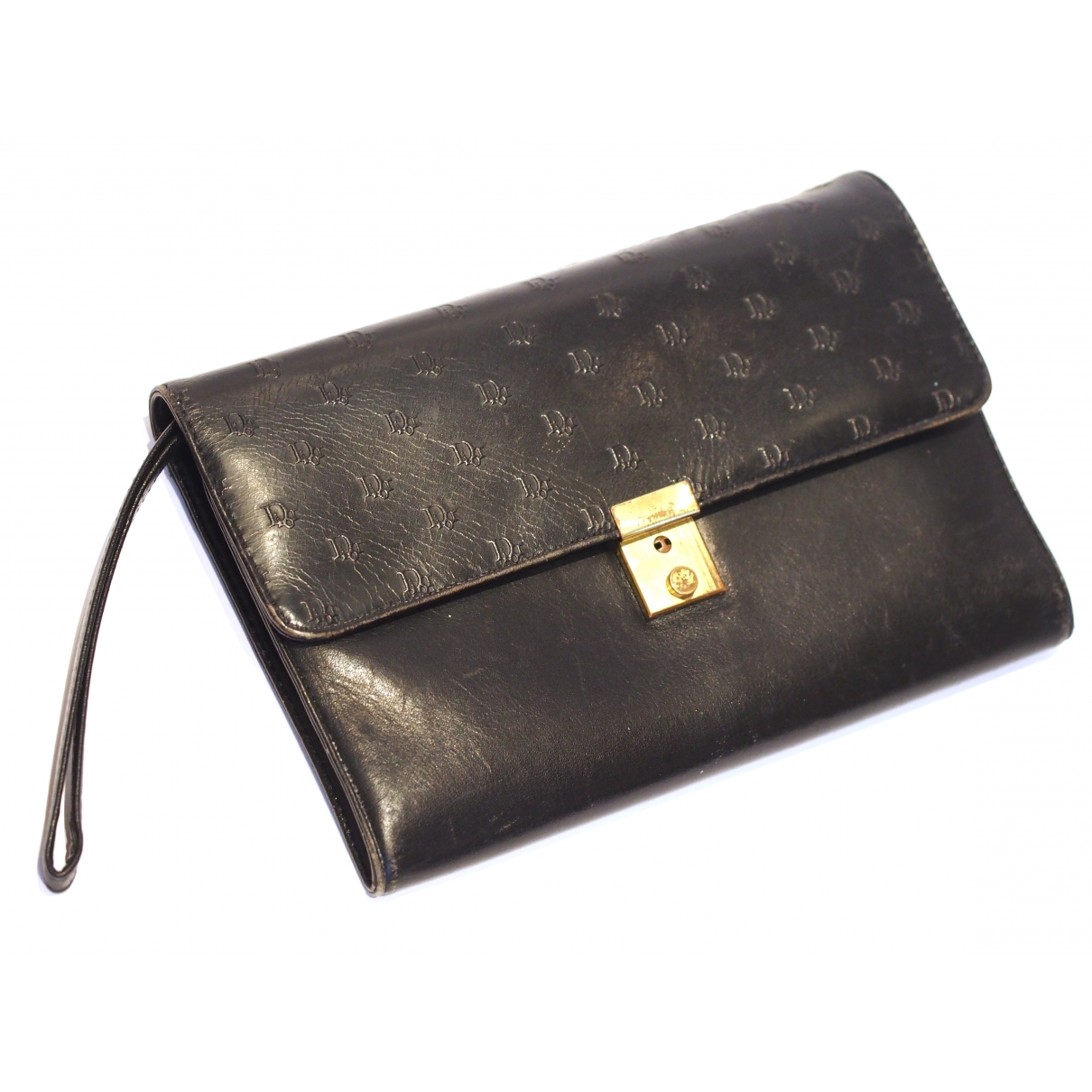 Dior \N Clutch in  Schwarz Leder