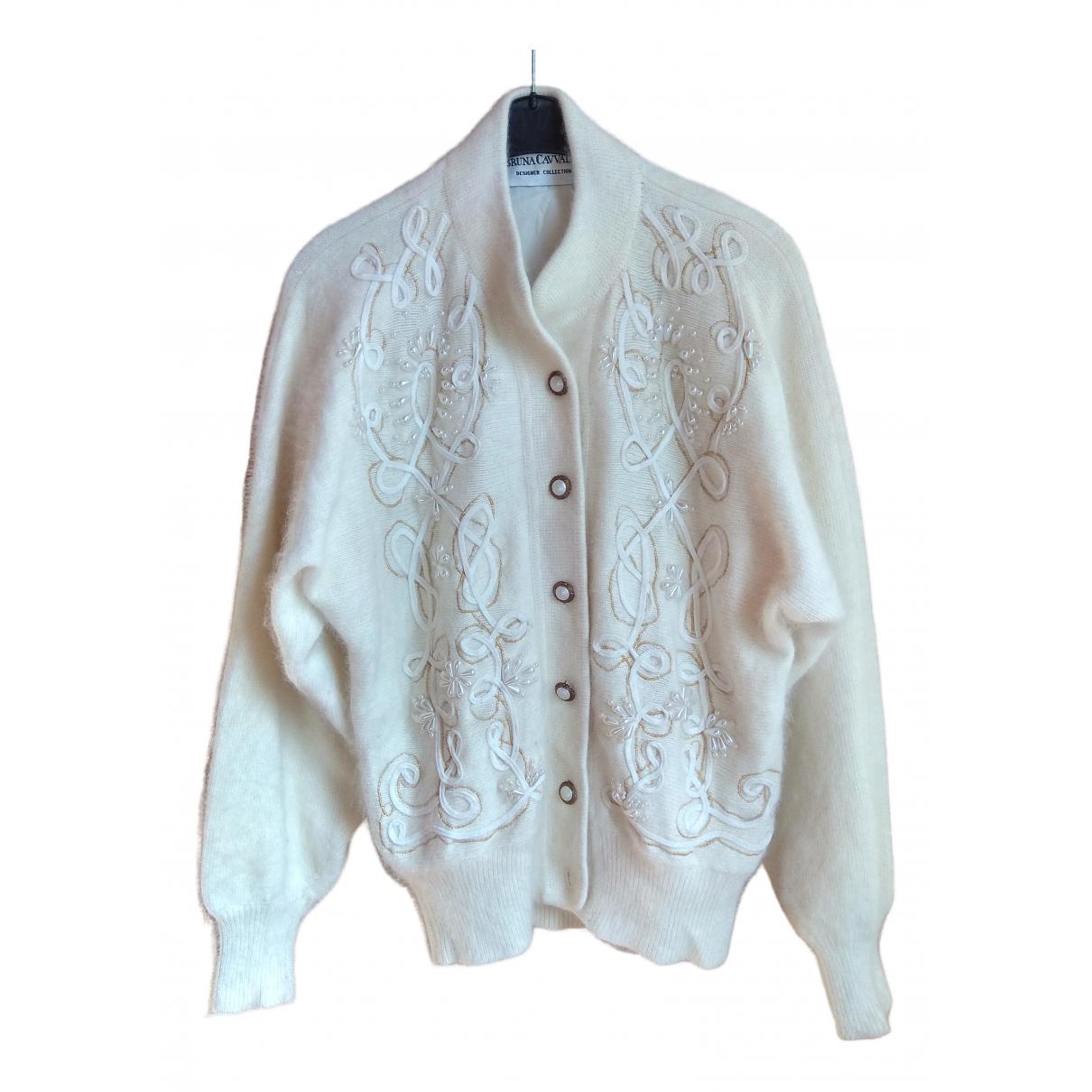 Non Signé / Unsigned N Ecru Wool Knitwear for Women M International
