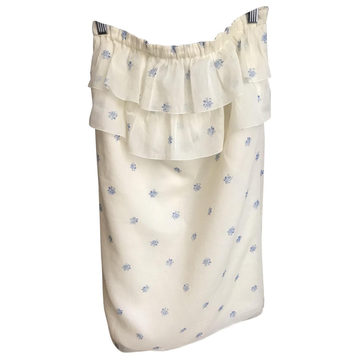 Miu Miu \N Yellow Silk skirt for Women 36 FR