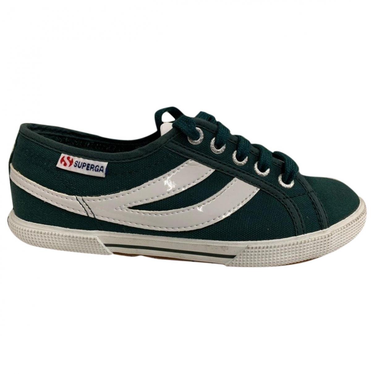 Superga \N Sneakers in  Gruen Leinen