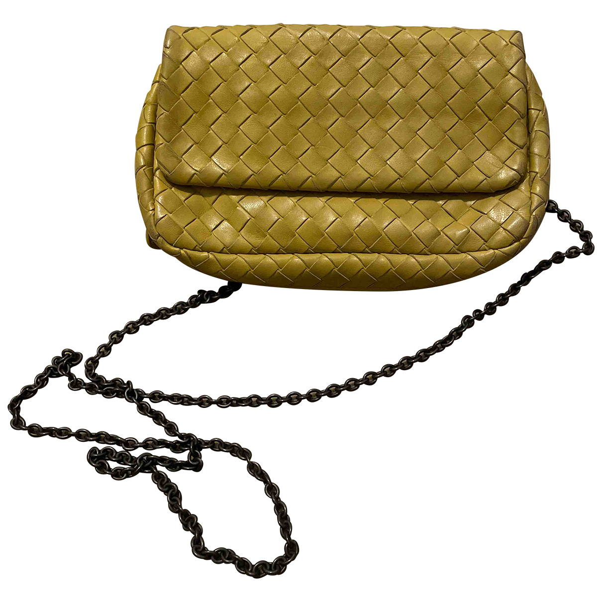 Bottega Veneta Olimpia Yellow Leather handbag for Women N