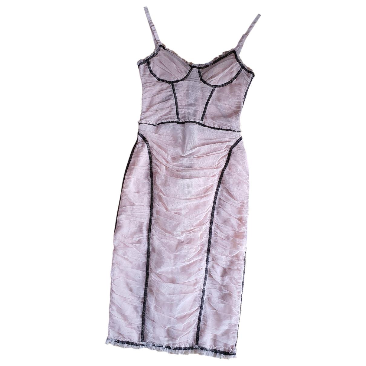 D&g N Pink Silk dress for Women 40 IT
