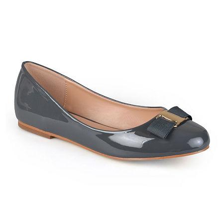Journee Collection Womens Kim Ballet Flats, 9 Medium, Gray