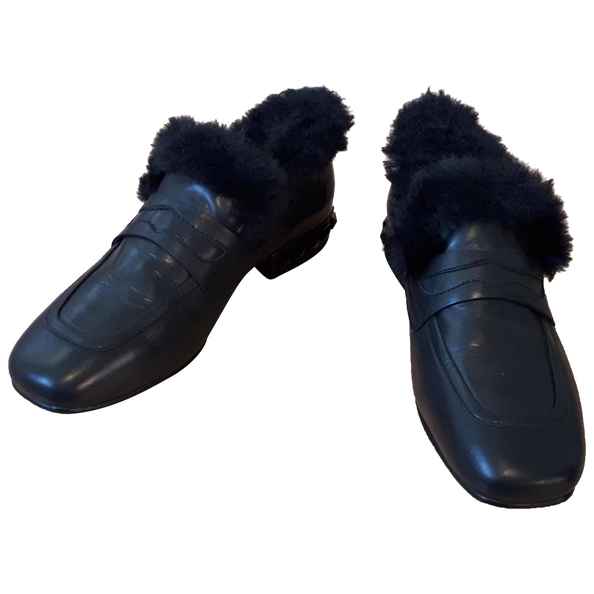 Ash - Ballerines   pour femme en cuir - noir