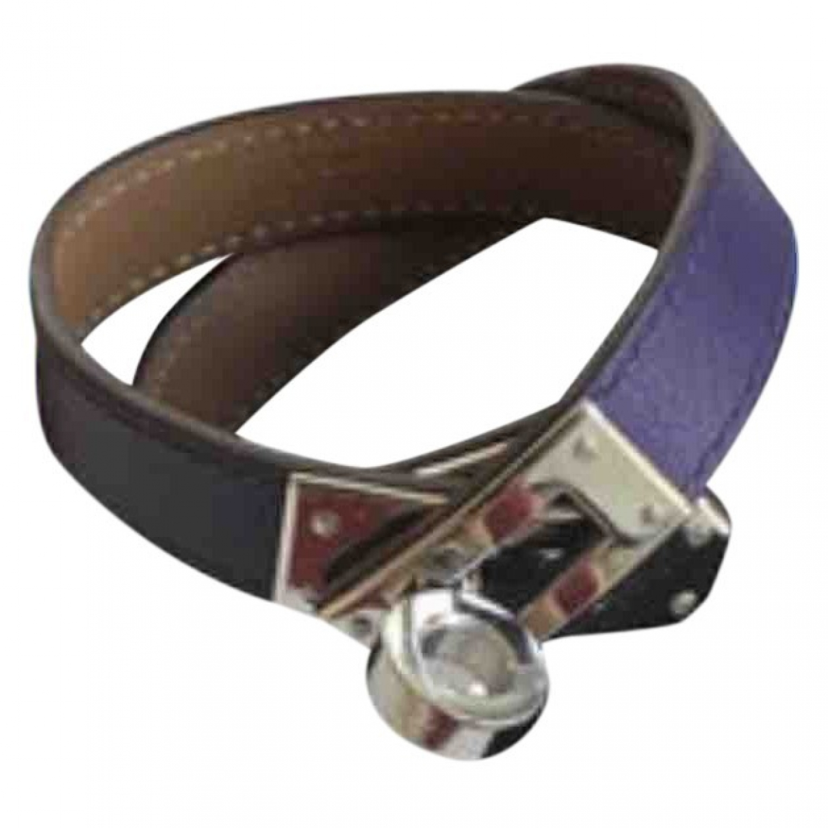 Hermès Kelly Double Tour Purple Leather bracelet for Women \N
