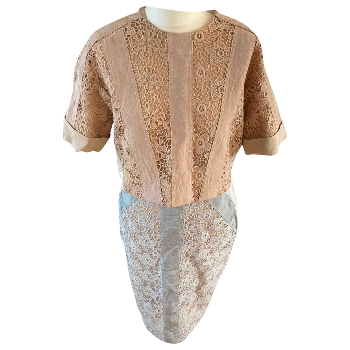 By Malene Birger \N Top in  Beige Spitze