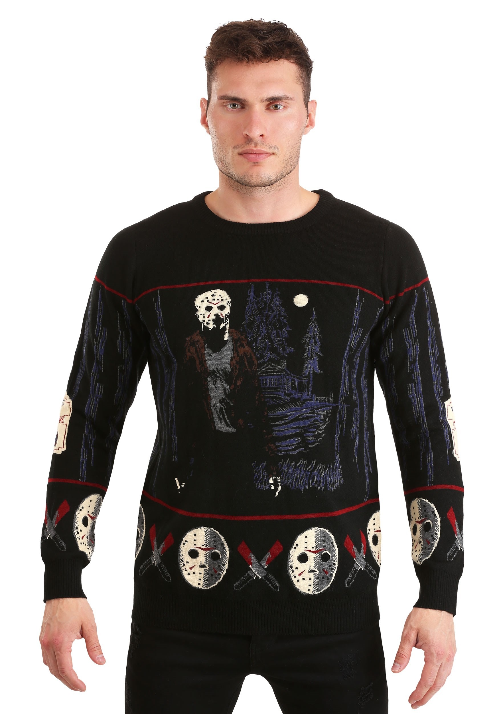 Friday the 13th Camp Crystal Lake Halloween Sweater for Adults