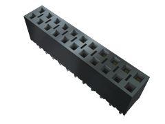 Samtec , BCS 2.54mm Pitch 12 Way 2 Row Vertical PCB Socket, Through Hole, Solder Termination (37)