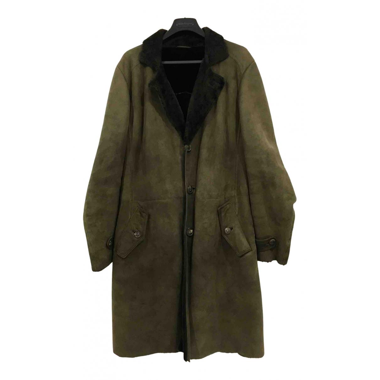 Salvatore Ferragamo N Green Shearling coat  for Men 50 IT