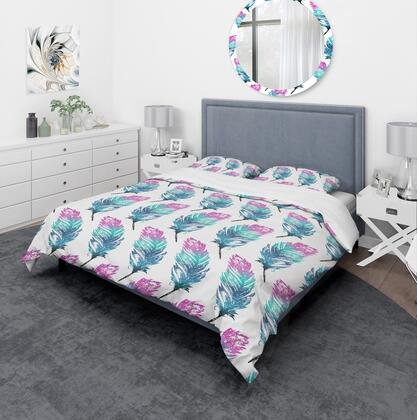 BED18729-T Designart 'Hand Drawn Feathers Isolated On Background' Southwestern Duvet Cover
