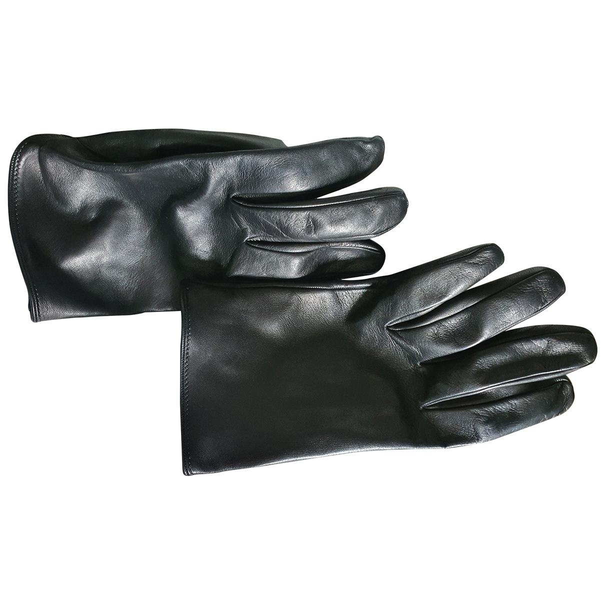 Prada \N Handschuhe in  Schwarz Leder
