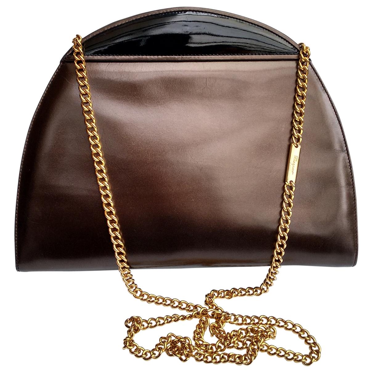 Salvatore Ferragamo \N Handtasche in  Braun Leder
