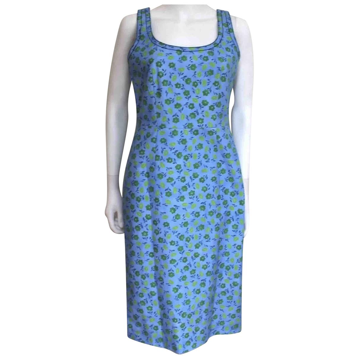Prada N Blue Cotton - elasthane dress for Women 42 IT