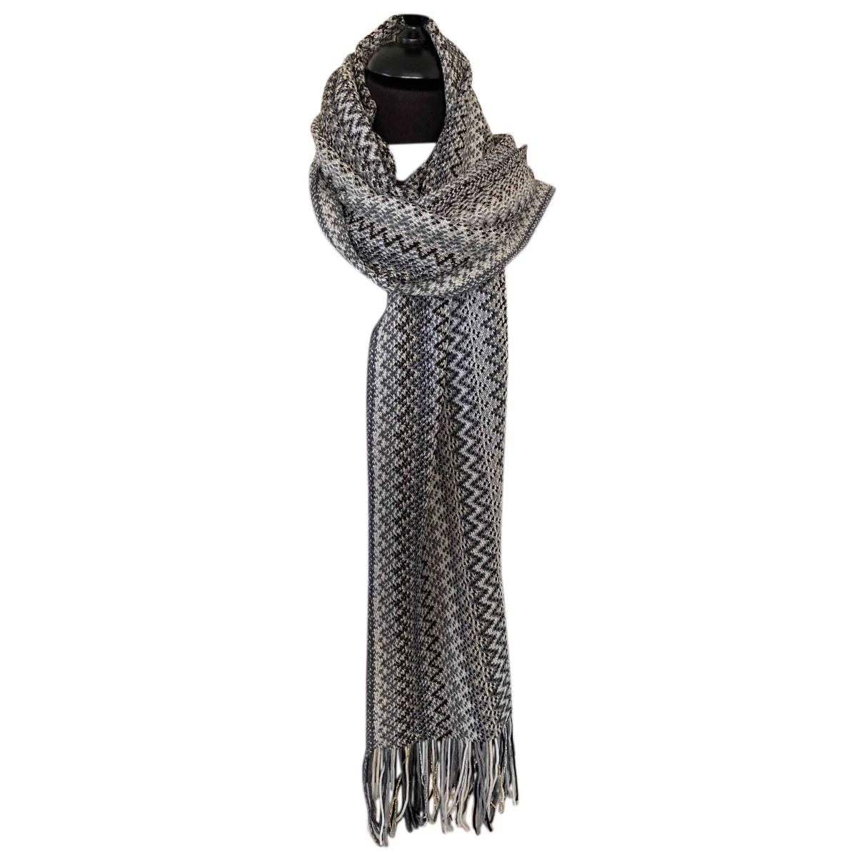 Missoni - Foulard   pour femme en laine - gris