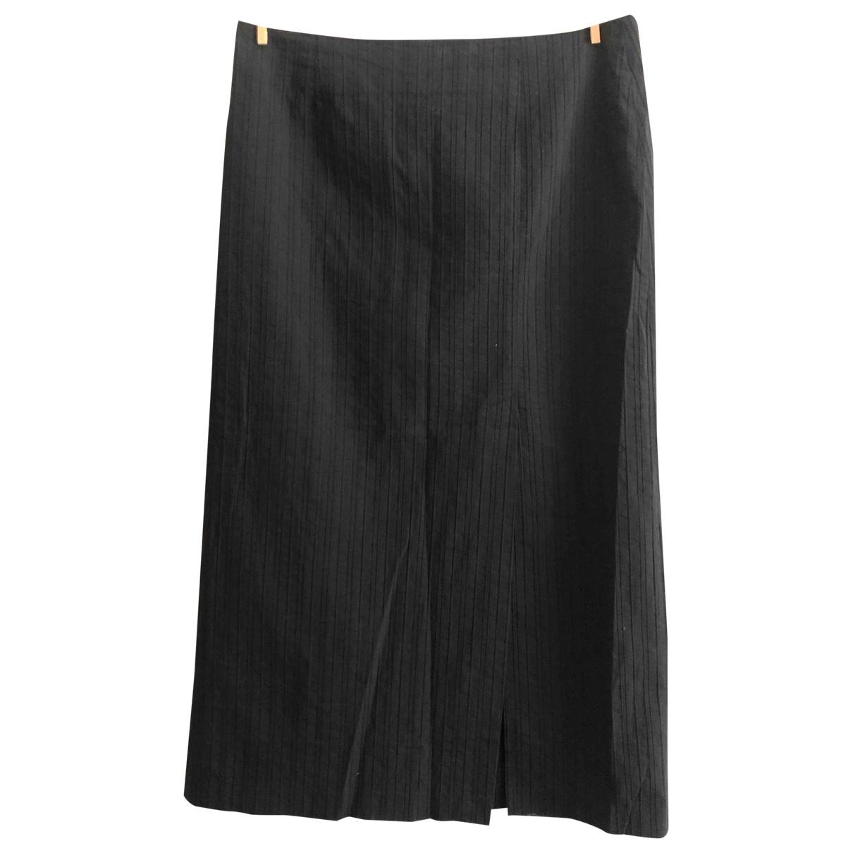 Valentino Garavani \N Black Cotton skirt for Women 48 IT