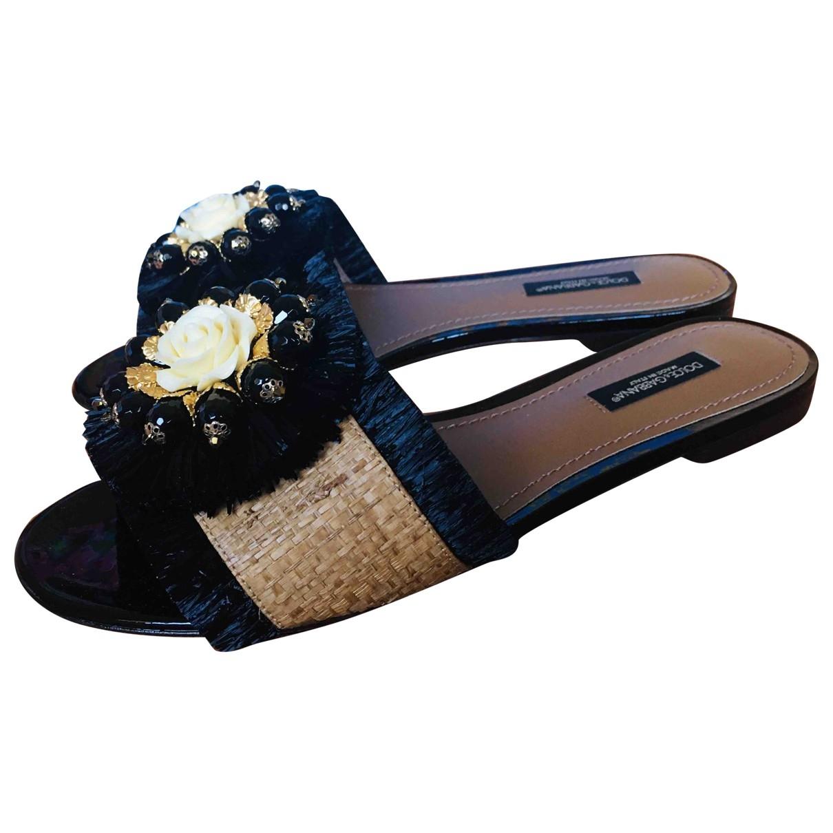 Dolce & Gabbana \N Beige Cloth Sandals for Women 36.5 EU