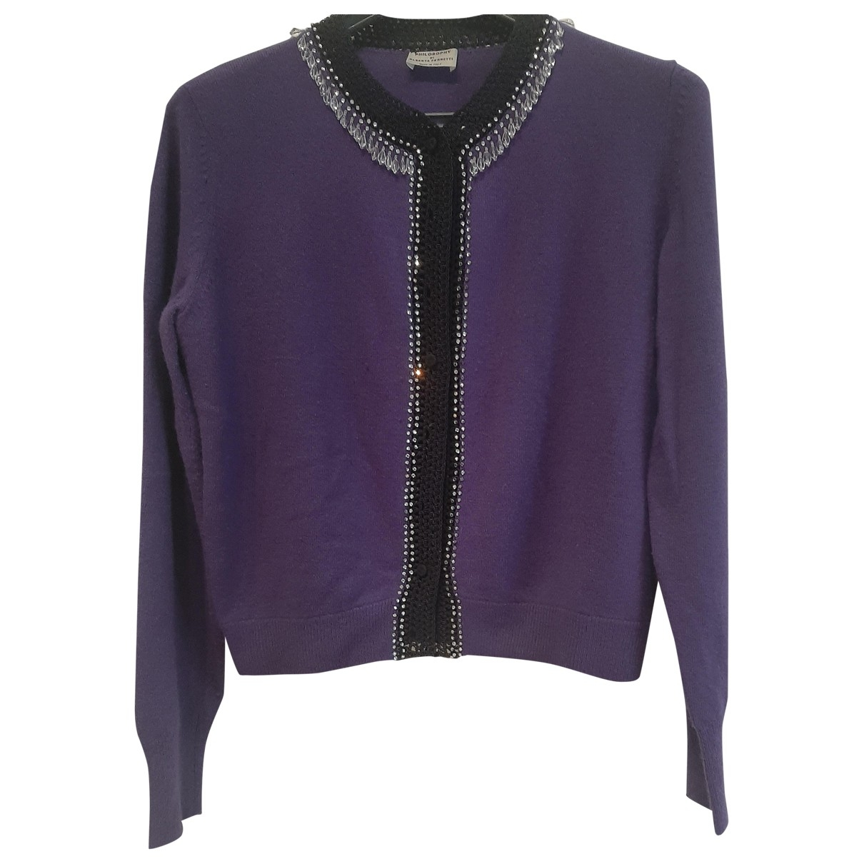 Philosophy Di Alberta Ferretti - Pull   pour femme en laine - violet