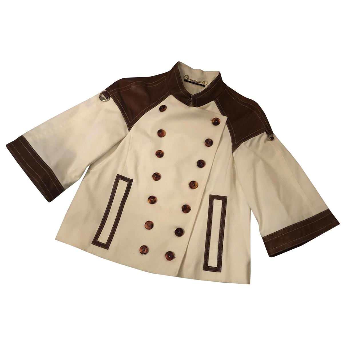 Gucci \N White Cotton jacket for Women 40 IT