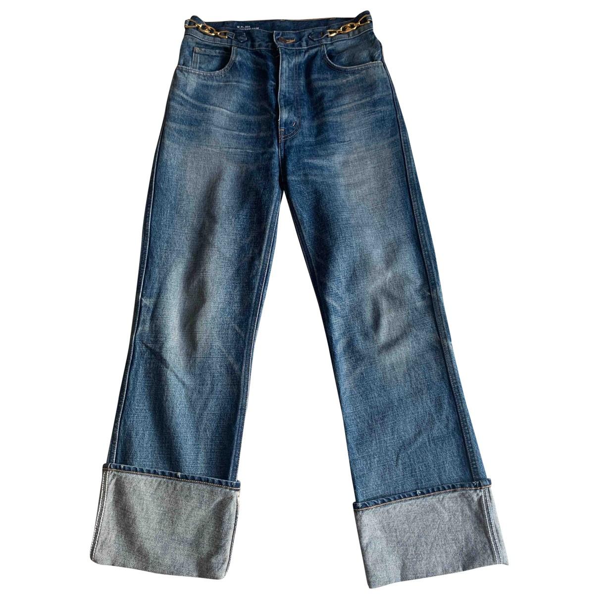 Celine N Blue Cotton Jeans for Women 28 US