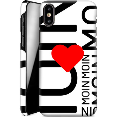 Apple iPhone X Smartphone Huelle - Moin Moin von caseable Designs