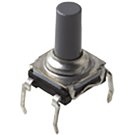 C & K IP60 Top Tactile Switch, Single Pole Single Throw (SPST) 50 mA 9.9mm Through Hole