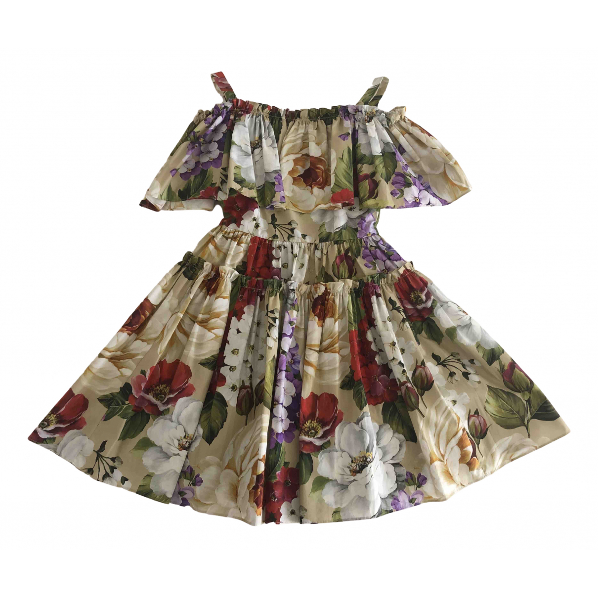Dolce & Gabbana \N Kleid in  Beige Baumwolle