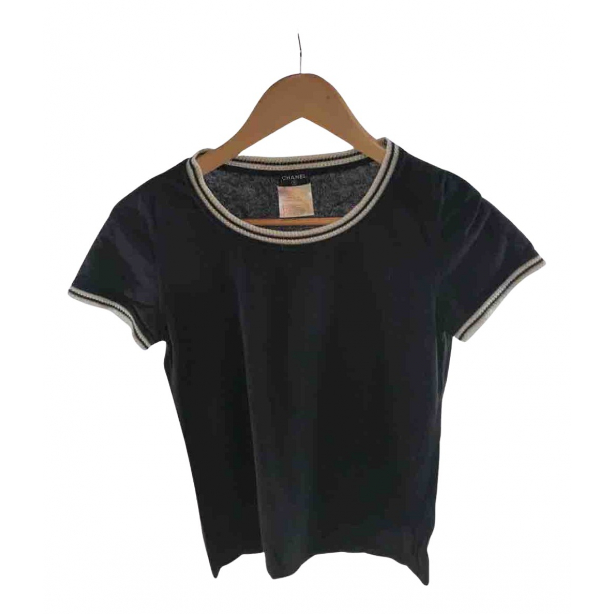 Chanel N Navy Cotton  top for Women 38 FR