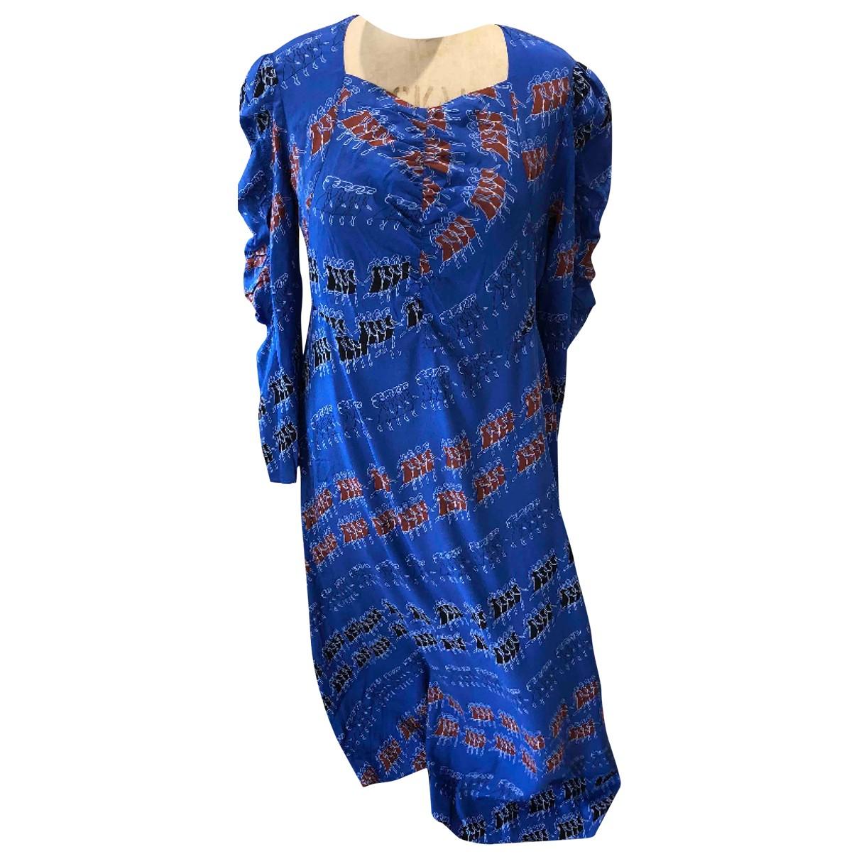 By Malene Birger \N Kleid in  Blau Viskose