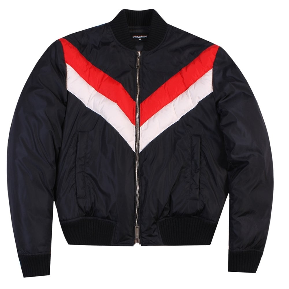 Dsquared2 Bomber Jacket Navy Colour: NAVY, Size: EXTRA LARGE
